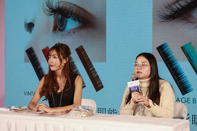 China International Nail Expo, Beijing – Eyelash Demonstration – Yuki Kimizaki, Japan